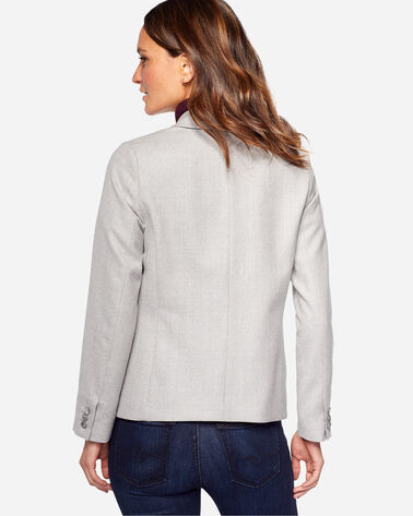 SHELBY WORSTED WOOL FLANNEL BLAZER, SILVER GREY MIX, large