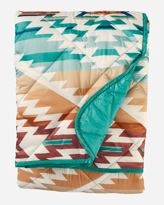 ALTERNATE VIEW OF PAGOSA SPRINGS PACKABLE THROW IN AQUA