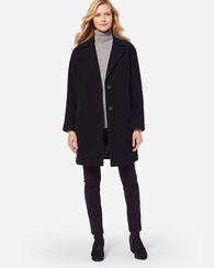 TWO-BUTTON WALKER COAT, BLACK, large