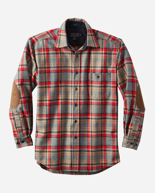 Elbow patch trail shirt pendleton for Mens flannel shirt with elbow patches