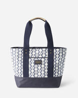 ZIGZAG RIVER CANOPY CANVAS TOTE IN WHITE
