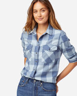 WOMEN'S DOUBLE-BRUSHED FLANNEL ELBOW PATCH SHIRT