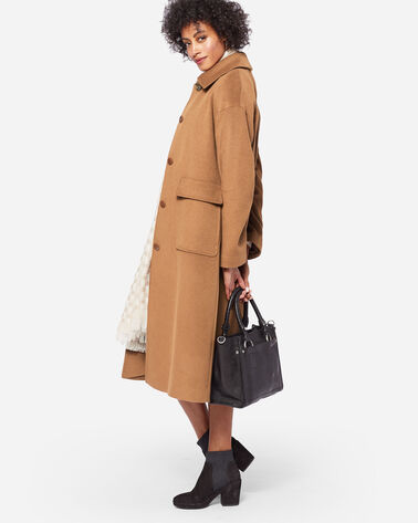 LONG WOOL COAT, CAMEL, large