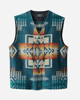 MEN'S JACQUARD WOOL VEST IN CHIEF JOSEPH AEGEAN