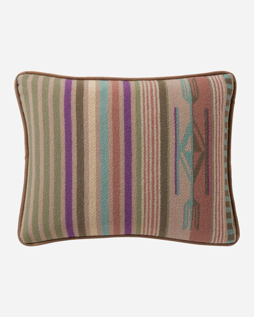 CHIMAYO TOSS PILLOW, AGAVE STRIPE, large