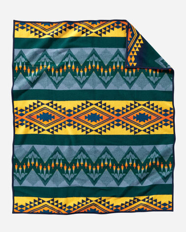 WILDLAND HEROES FIREFIGHTERS BLANKET, TEAL, large