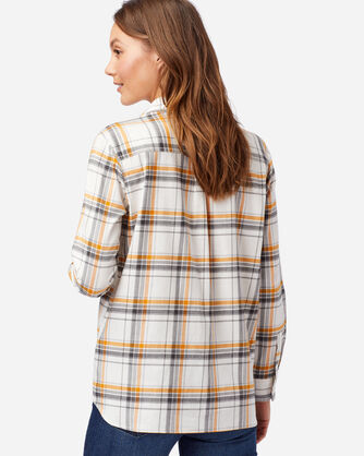 ALTERNATE VIEW OF WOMEN'S FAVORITE FLANNEL SHIRT IN IVORY/GOLD