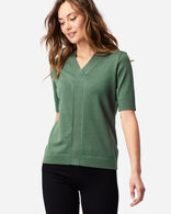 WOMEN'S COLBY SUIT SWEATER IN GARDEN GREEN