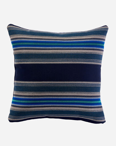 PENDLETON BY SUNBRELLA SQUARE PILLOW IN INDIGO SERAPE STRIPE