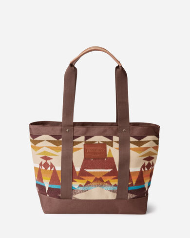 JACQUARD TOTE, CRESCENT BUTTE IVORY, large