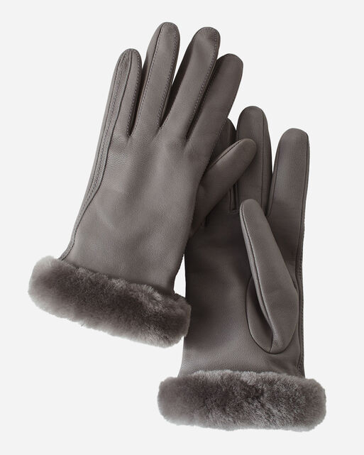 WOMEN'S UGG CLASSIC LEATHER SHORTY TECH GLOVES