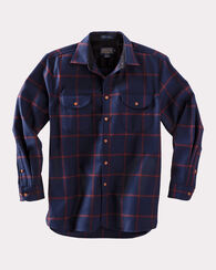 BUCKLEY SHIRT, NAVY/MAROON WINDOWPANE, large