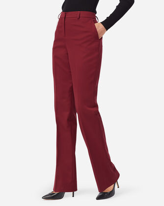 ALTERNATE VIEW OF SEASONLESS WOOL LINED STRAIGHT LEG PANTS IN CABERNET