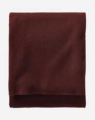 ECO-WISE WOOL SOLID BLANKET, MAROON, large
