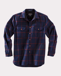 FITTED BUCKLEY SHIRT, NAVY/MAROON WINDOWPANE, large