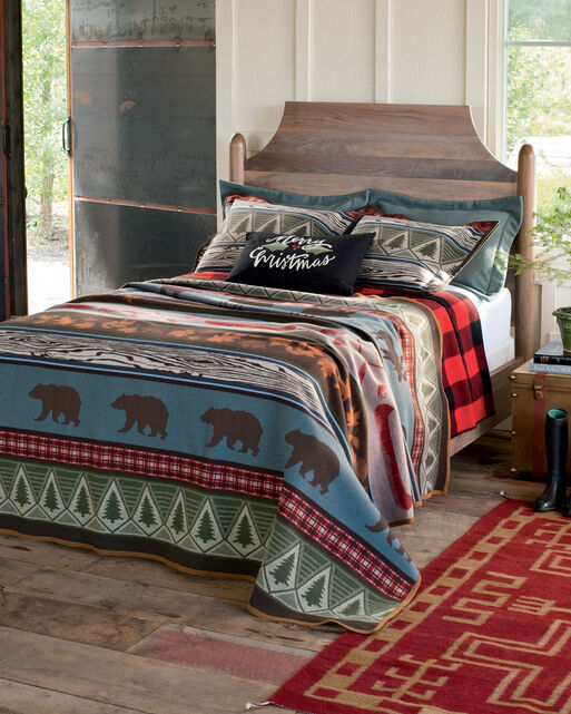 Pine Lodge Blanket Collection Wool Bedding Collections