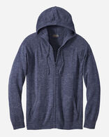 MEN'S FULL-ZIP COTTON HOODIE IN INDIGO