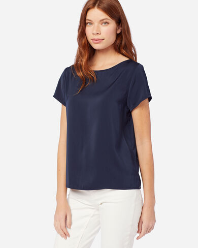 WOMEN'S SOFT PULLOVER TOP IN MIDNIGHT NAVY