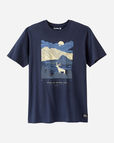 HURLEY X PENDLETON NATIONAL PARK TEE IN NAVY CRATER LAKE