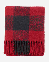 FRINGE THROW, RED/BLACK, large