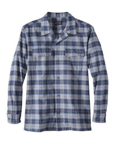 MEN'S FITTED BAJA BOARD SHIRT IN NAVY/BLUE PLAID
