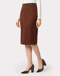 SEASONLESS WOOL PENCIL SKIRT, BROWN, large