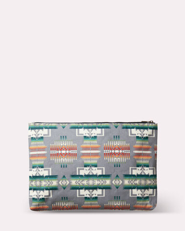 CHIEF JOSEPH CANOPY CANVAS BIG POUCH, GREY, large
