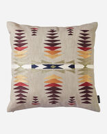 JUNIPER MESA EMBROIDERED SQUARE PILLOW IN TAN MULTI