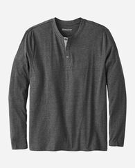MEN'S HENLEY, CHARCOAL HEATHER, large