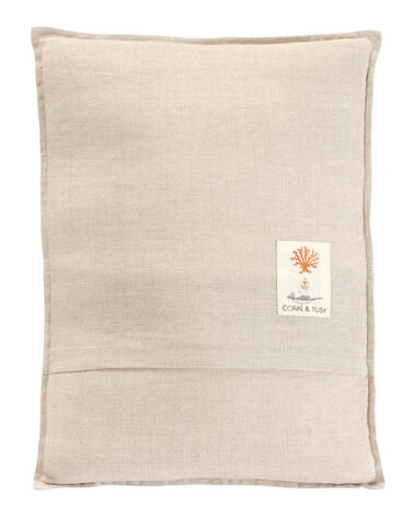 ALTERNATE VIEW OF GREAT GREY OWL PILLOW IN NATURAL LINEN