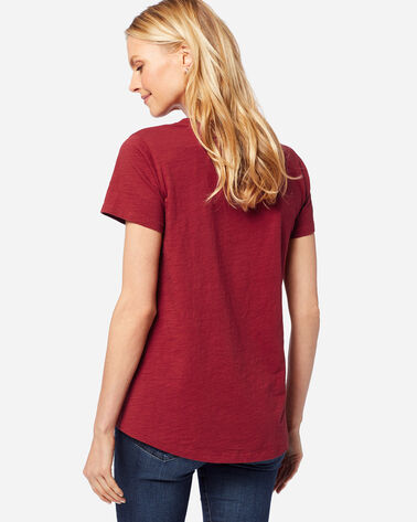 ADDITIONAL VIEW OF WOMEN'S V-NECK POCKET TEE IN RED ROCK