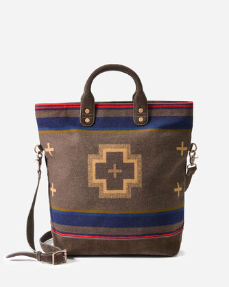 ADDITIONAL VIEW OF SHELTER BAY LONG TOTE IN BROWN