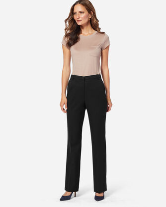 ADDITIONAL VIEW OF SEASONLESS WOOL STRAIGHT LEG PANTS IN BLACK