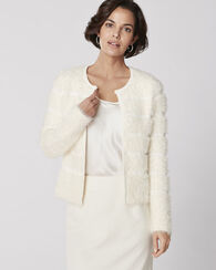 POLAR BEAR CARDIGAN, IVORY, large