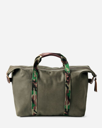 ADDITIONAL VIEW OF COTTON CANVAS GYM BAG IN PINE