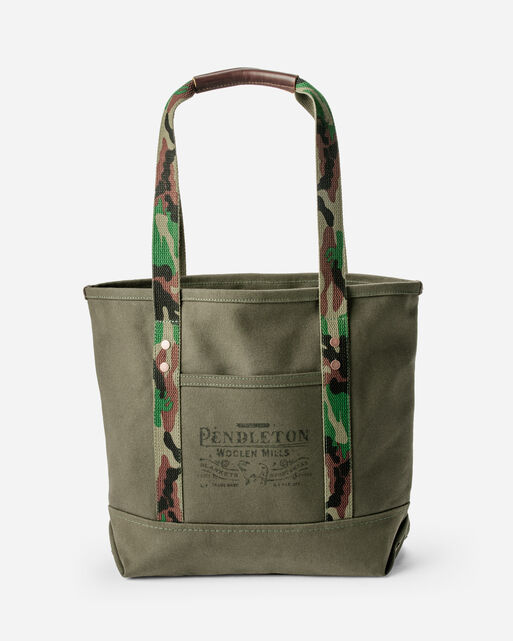 COTTON CANVAS TOTE IN PINE