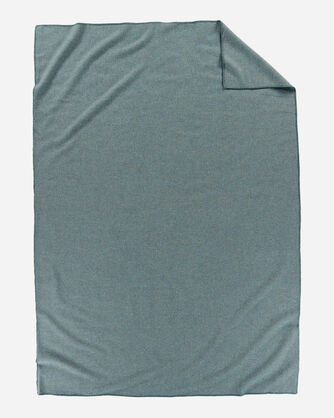 ADDITIONAL VIEW OF ECO-WISE WOOL SOLID BLANKET IN SHALE BLUE