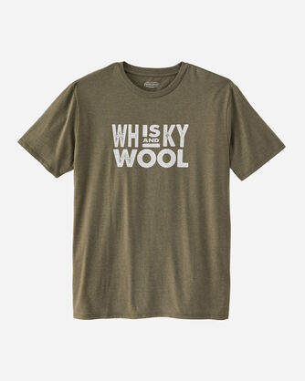 MEN'S SHORT-SLEEVE WHISKY AND WOOL TEE IN GREEN HEATHER