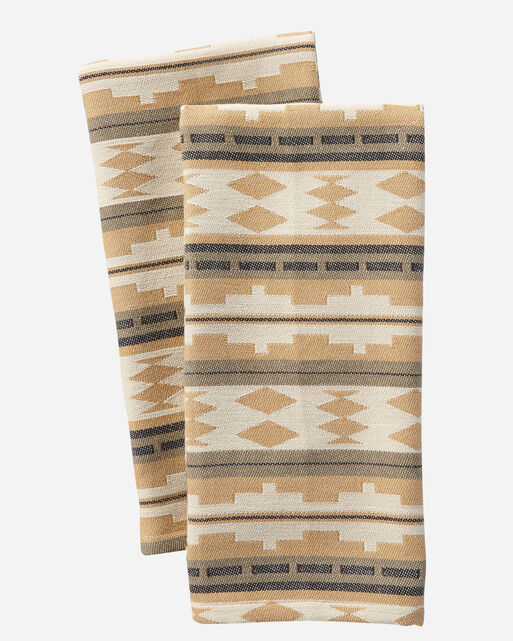 TWIN ROCKS DISH TOWELS, SET OF 2 IN CAMEL
