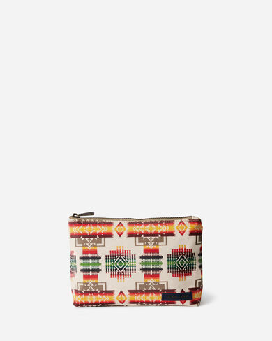 CHIEF JOSEPH CANOPY CANVAS ZIP POUCH IN IVORY