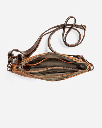 ADDITIONAL VIEW OF LEATHER CROSSBODY BAG IN TAN