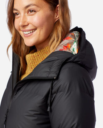 ALTERNATE VIEW OF WOMEN'S VANCOUVER DOWN PUFFER COAT IN BLACK