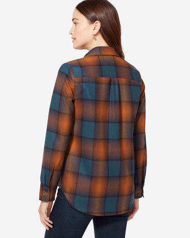 QUIMBY HIGH-LOW WOOL SHIRT, COPPER/BLUE OMBRE, large