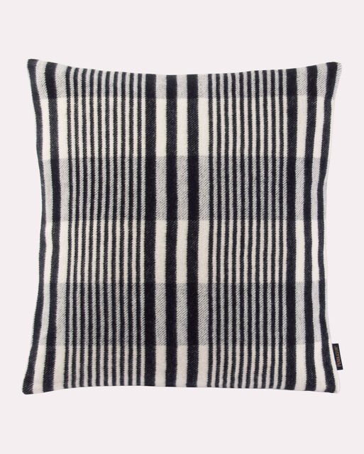 CONTEMPO PLAID PILLOW, BLACK/CREAM, large