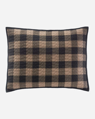 ADDITIONAL VIEW OF BUFFALO TRAIL PLAID COVERLET SET IN BLACK/TAUPE