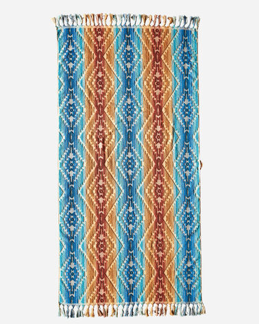 PAGOSA SPRINGS SPA TOWEL WITH FRINGE, MARINE, large