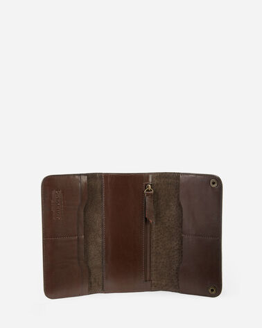ALTERNATE VIEW OF SIERRA RIDGE TRADE WALLET IN BROWN