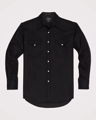 SNAP-FRONT WESTERN CANYON SHIRT, BLACK, large