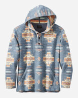 MEN'S HOODIE POPOVER IN CHIEF JOSEPH BLUE