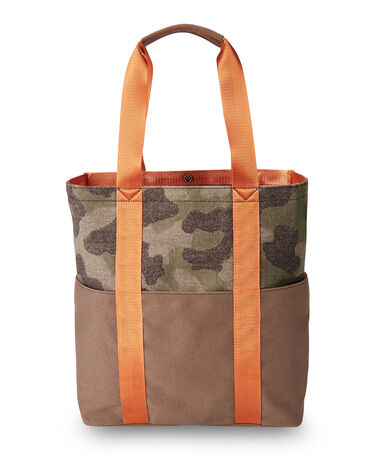 ALTERNATE VIEW OF CAMO TOTE IN CAMO BROWN